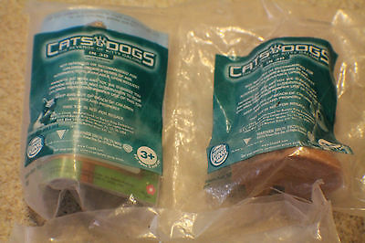 2010 BURGER KING KIDS MEAL TOY CATS AND DOGS 2x