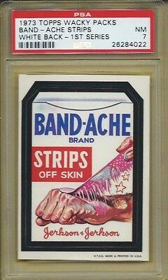 Wacky Packages Series 1 Band-Ache Psa 7 Nm High End Beauty!