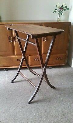antique 19th century folding campaign table.