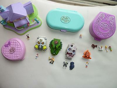 Lot Polly Pocket Vintage Bluebird Mighty Max Garcon - Maison Mickey-Fer A Cheval