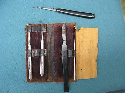 Vintage Tiemann Surgical Pocket Tool Instrument Plus Others And Case