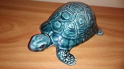 Poole pottery collectible blue tortoise - perfect condition