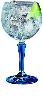 Set of 6 Bombay Sapphire Gin Balloon Glasses