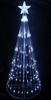 4' Cool White LED Lightshow Christmas Tree Cone Tree with 80 LED Lights