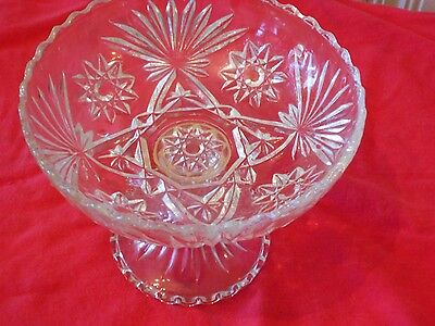 RARE EAPC Early American Prescut Star of David Pedestal Bowl RARE SIZE!!!