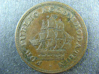 LC-14B Halfpenny token Lower Bas Canada For public accommodation Breton 533