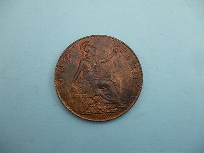 George V 1912 Penny With Dark Lustre  High Grade Coin.