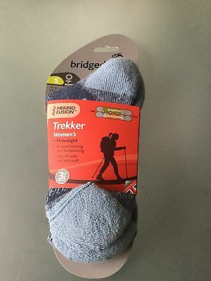 Merrino Fusion, Trekker/backpacking/Hiking Socks,RRP £16. Size 3-4.5