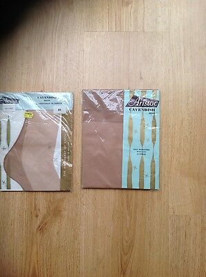 Two Pair of Aristoc Stockings Fully Fashioned 30 Denier Nylon Size 8.5