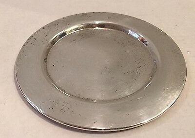 """Bread/Butter Dish Silver Plated 6"""" Wm A ROGERS Dish Small Charger, Monogrammed T"""