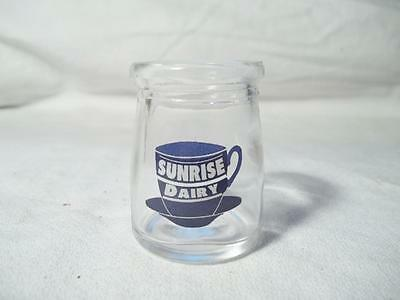 Sunrise Dairy Milk Restaurant Coffee Creamer Glass Bottle Single Serve