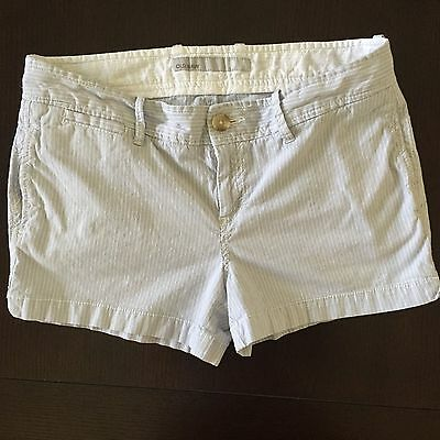 Old Navy Women's Low Rise Blue/White Striped Shorts Size 6