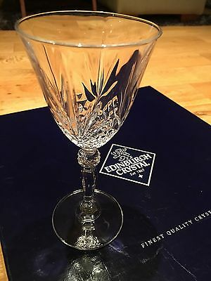 6 Edinburgh crystal Wine Glasses - Collection Only