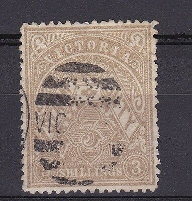 DB676/7) Victoria 1885/93 3/- Drab & Olive Drab Stamp Duties