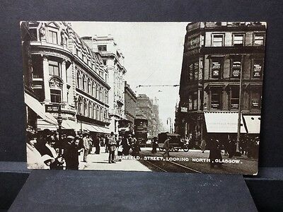 Glasgow Rppc Renfield St Trams Vintage Cars Clydesdale Rubber Motorcycle Shop