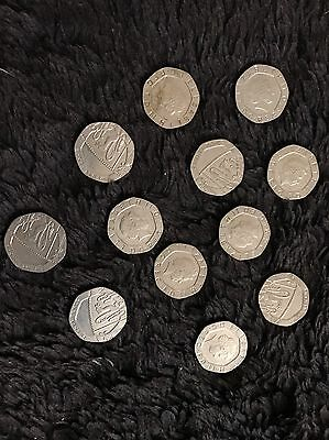 One Of 20p Mule coin (undated on both sides)