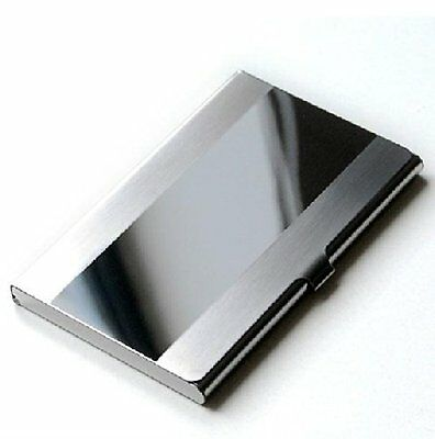 Ascetic Tour Stainless Steel Id Holder Card Case Business Box Case Bank Mirror