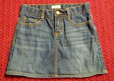 Oshkosh Girls Size 12 Blue Denim Jean Skorts