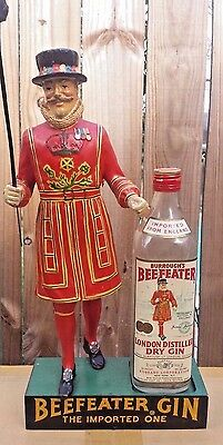 Vintage Beefeater Gin Counter Display with Bottle.(EMPTY) - Rare