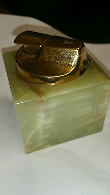 Vintage Ronson Table Lighter In A Marble Base