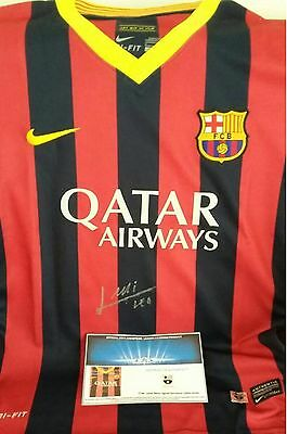 Lionel Messi Signed Barcelona Soccer Ladies Jersey - Very Rare