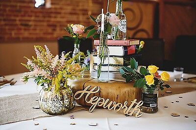 Custom Wooden Word Cutouts - Laser Cut Wood Words for Wedding or Party Table Dec