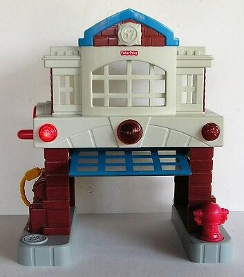 Fisher Price Geotrax Beamtown Fire Station Lights Sounds
