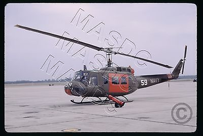 35mm Kodachrome Helicopter Slide - UH-1D Huey 64-13869 US NAVY HT-8 on 26Sep1969