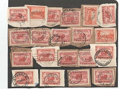 A sheet with 20 postmark issues QLD NSW, VIC,S.A nice clean lot.