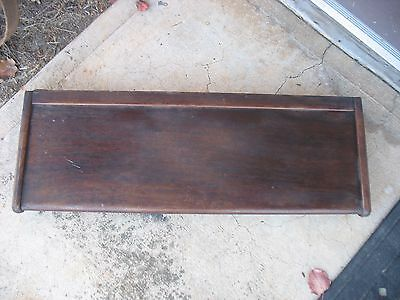 """Vtg Mahogany Ogee Stacking Bookcase Globe Wernicke Top Only 11"""" x 34"""" with bands"""
