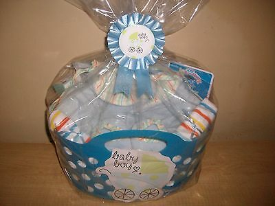 New Arrival Baby Boy Gift Basket or Centerpiece