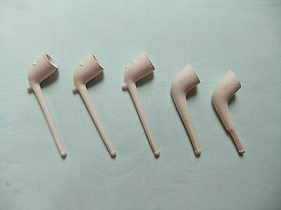 Collection of 5 Clay Pipes - old, vintage, RAOB, tobacciana