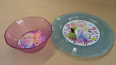 Disney store Frozen Anna and Elsa Bowl and Plate