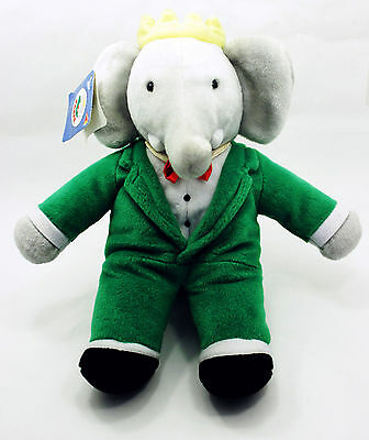 "New Condition Dakin ""King Babar"" 14"" Plush Green Suit & Red Bowtie - Tags Intact"