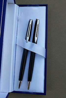Waterman Black Ball Pen and Pencil Set New In Box Product