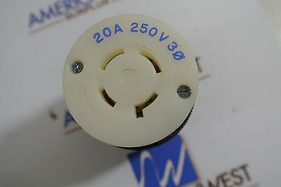 Hubbell Twist Lock 231A 20 Amp 3 Phase 250V Receptacle  FREE USPS