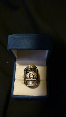 Antique Peruvian 925 18K  Nazca Indian Tribal Ring- Extremely Rare