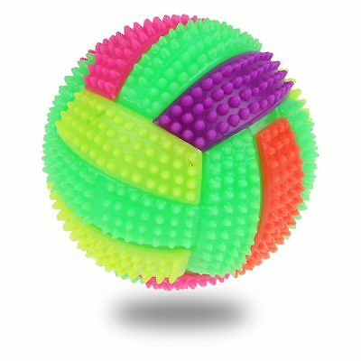 Mini LED Flash & Sound Rubber Volley Ball Kids Baby Funny Toys Gift New Launched