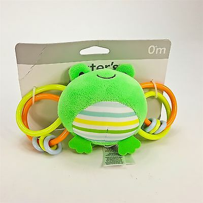 Carters Activity Tubing Frog Baby Newborn Birth Soft Plush Toy Rattle 0mth NEW