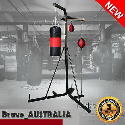 Multi Station Boxing Punching Kick Bag Free Stand Speed Ball Home Gym Exercise