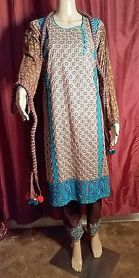 Pakistani Indian Women Party Wear Shalwar Kameez Embroidered 3pc Suit - Stitched