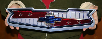 NEW CHEVROLET BEL AIR  V8 Hood Emblem 18x5 - Metal Sign - PhotoSTEEL