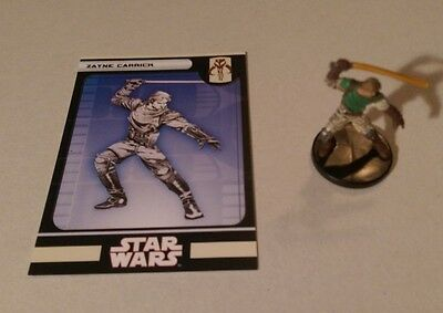 Star Wars Miniatures 2008 Knights of the Old Republic ZAYNE CARRICK 54/60 w/Card