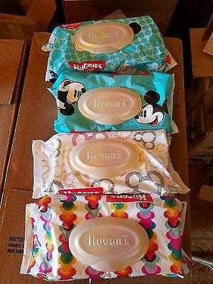 Lot of 4 Huggies Simply Clean Wipes Travel Pack, 288 Count -NEW-FREE SHIPPING