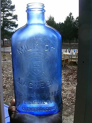 Large OLD Milk Of Magnesia Blue Bottle