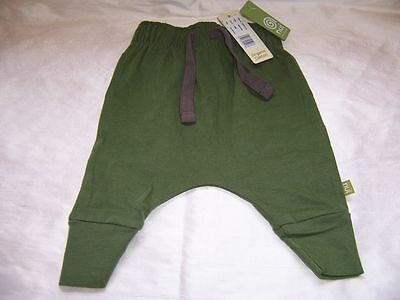Nui Organic Cotton Forest Green Kata Pants for 3-6 month old baby, NWT