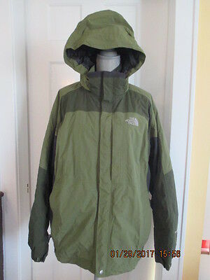 THE NORTH FACE Green Hyvent Zip Out Snow Jacket Hooded  Mens XL
