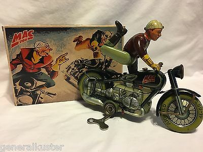 "1940's ARNOLD ""BLACK"" MAC700 MOTORCYCLE with REPRODUCTION GERMAN BOX - NICE!"