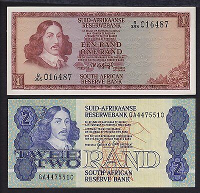 South Africa 1 and 2 Rand P-116 118 UNC