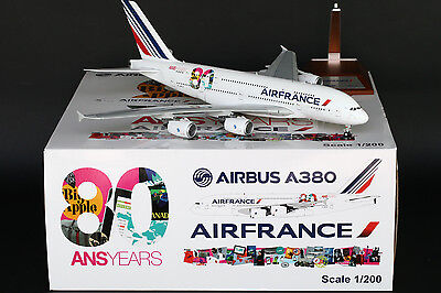 "Air France Airbus A380 Reg: F-HPJI ""80th Years""  JC Wings 1:200 Diecast XX2450"